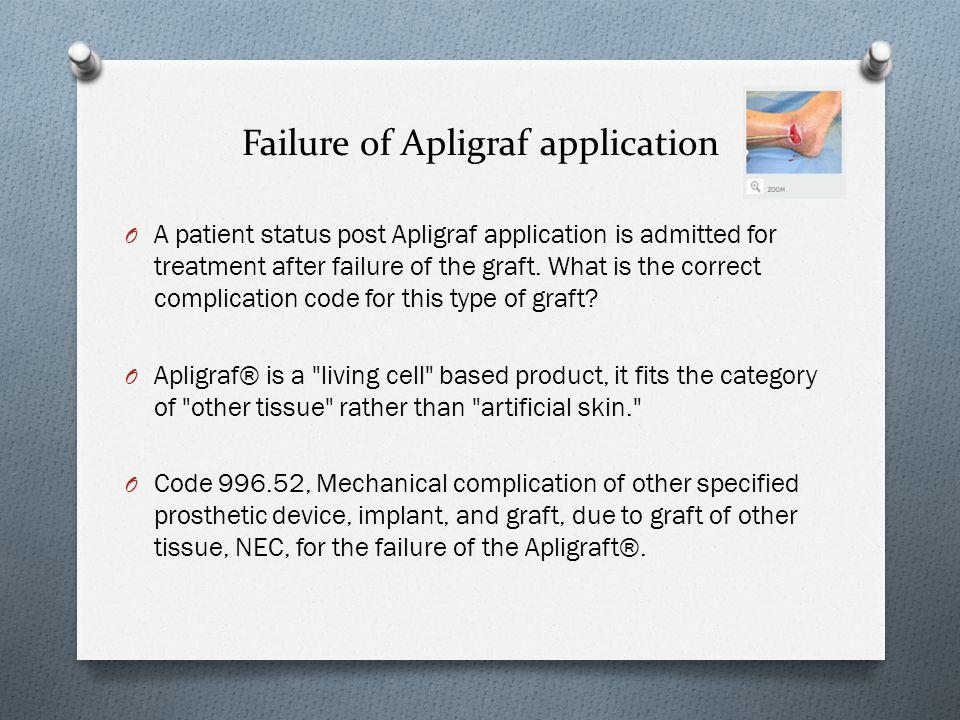 Failure of Apligraf application
