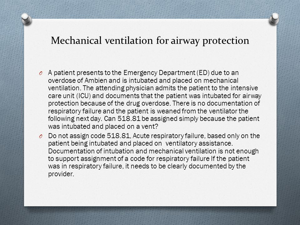 Mechanical ventilation for airway protection