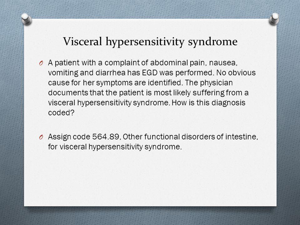 Visceral hypersensitivity syndrome