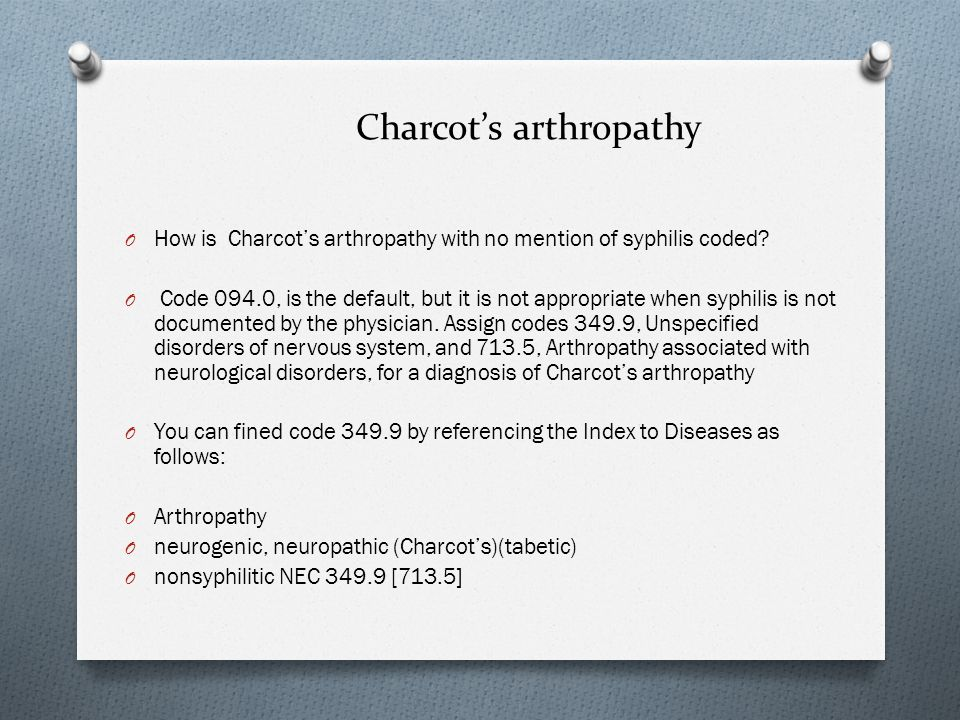 Charcot's arthropathy