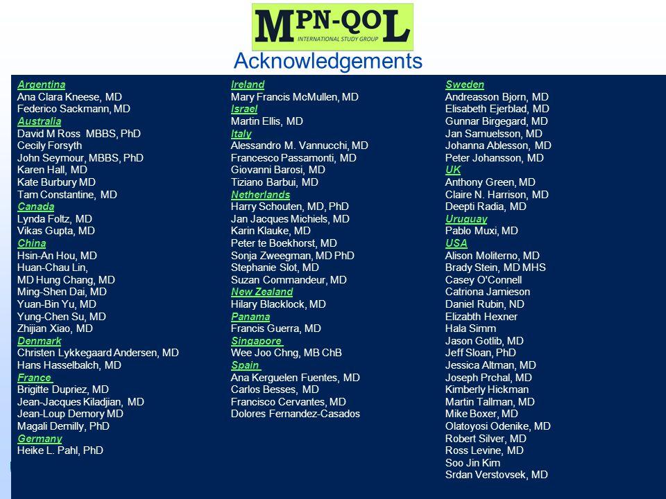 Acknowledgements ©2011 MFMER | 3133089-46 Argentina Ireland Sweden