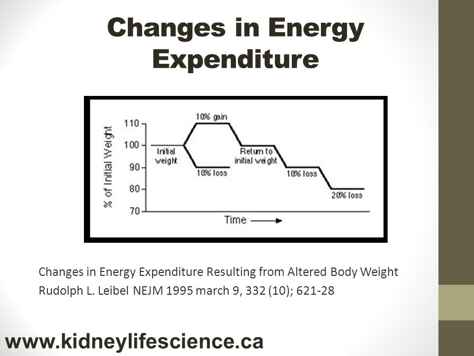 Changes in Energy Expenditure