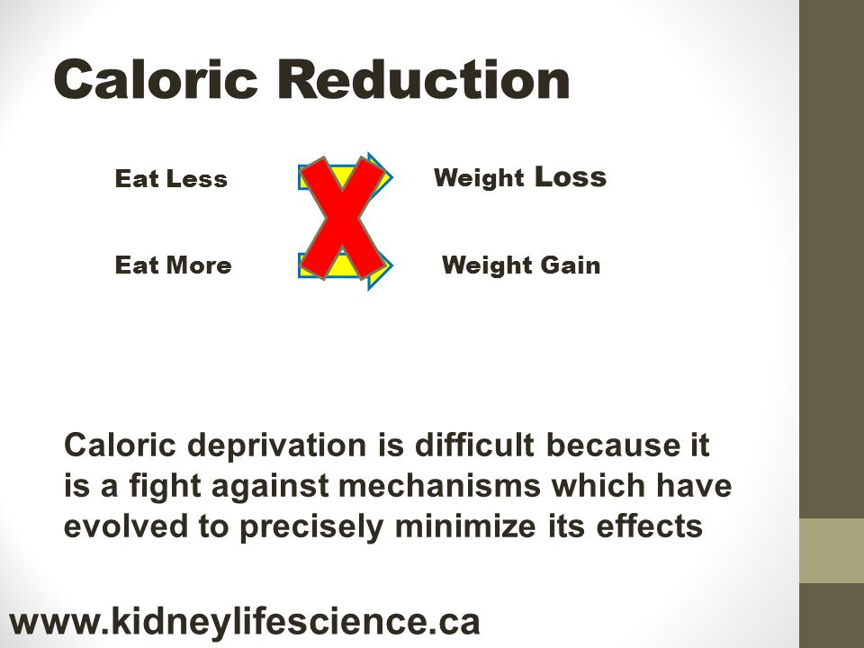 Caloric Reduction www.kidneylifescience.ca