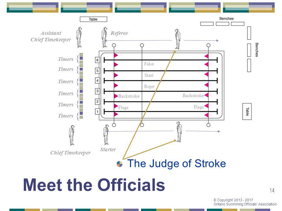 Meet the Officials The Judge of Stroke { { { { { { Assistant