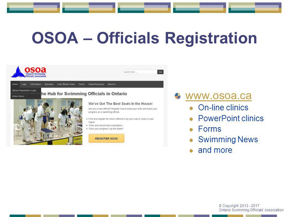 OSOA – Officials Registration