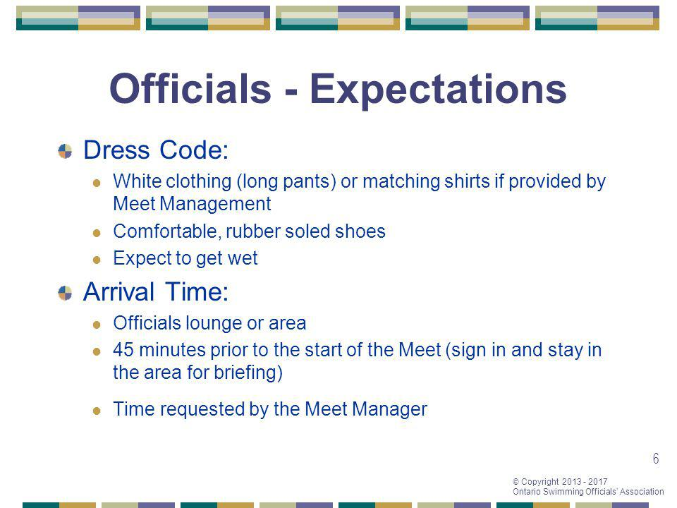 Officials - Expectations