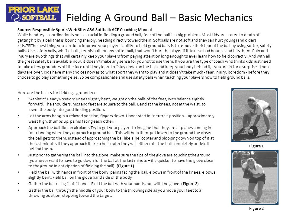 Fielding A Ground Ball – Basic Mechanics