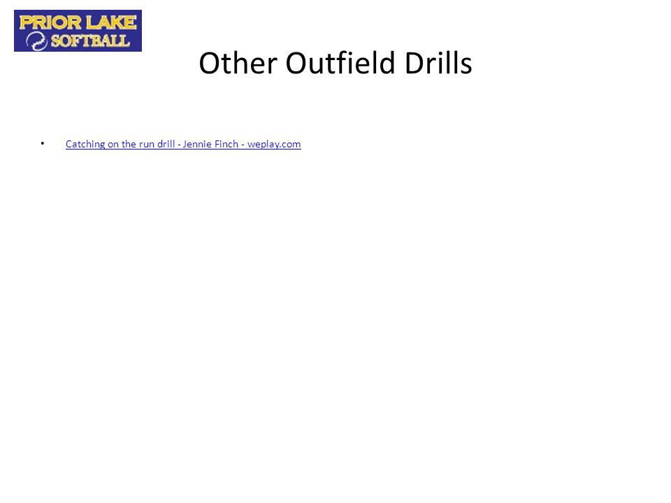Other Outfield Drills Catching on the run drill - Jennie Finch - weplay.com