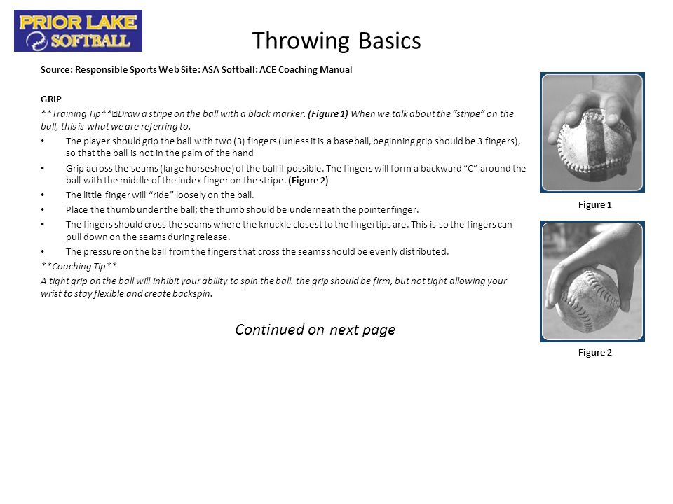 Throwing Basics Continued on next page