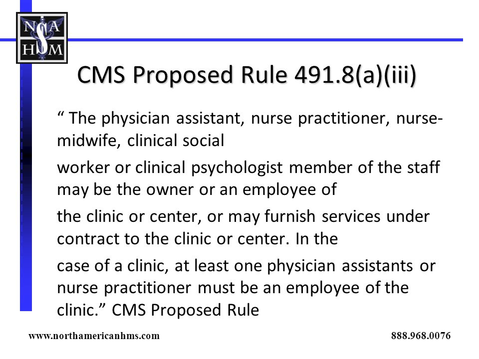 CMS Proposed Rule 491.8(a)(iii)