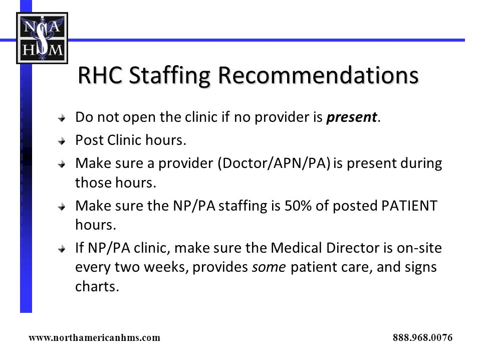 RHC Staffing Recommendations
