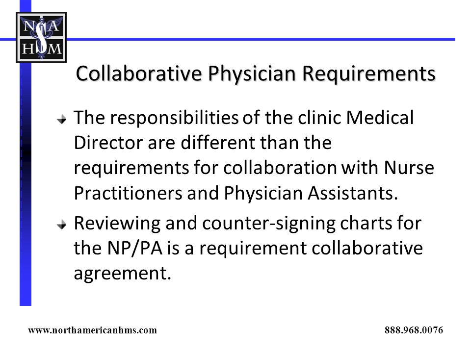 Collaborative Physician Requirements