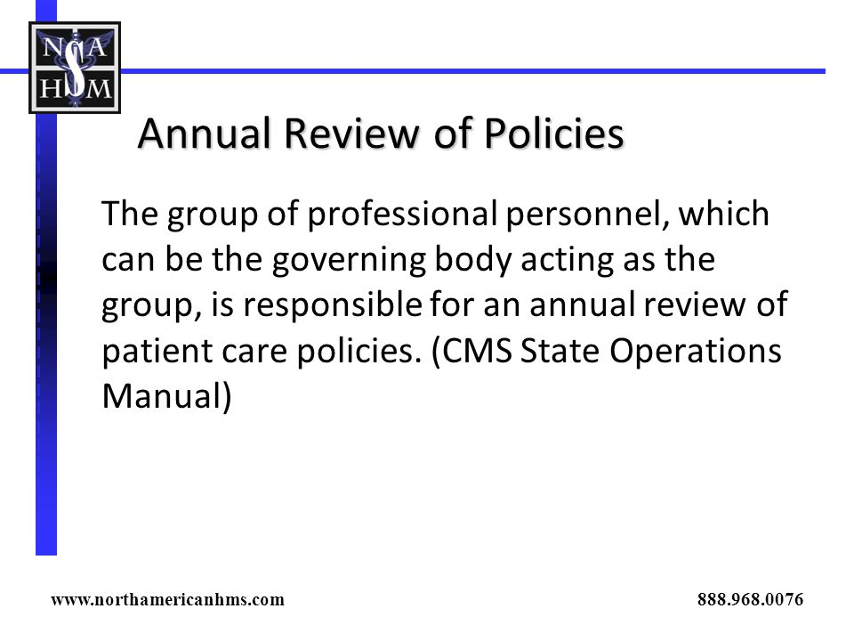 Annual Review of Policies