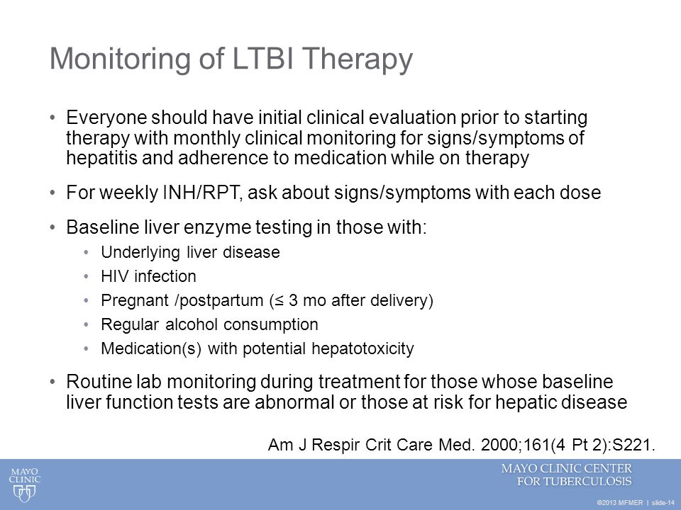 Monitoring of LTBI Therapy
