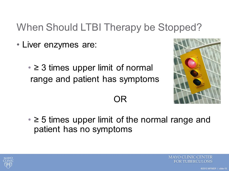 When Should LTBI Therapy be Stopped