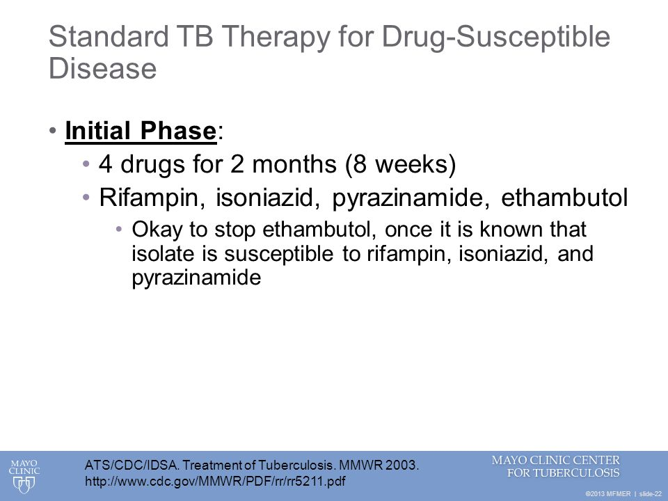 Standard TB Therapy for Drug-Susceptible Disease
