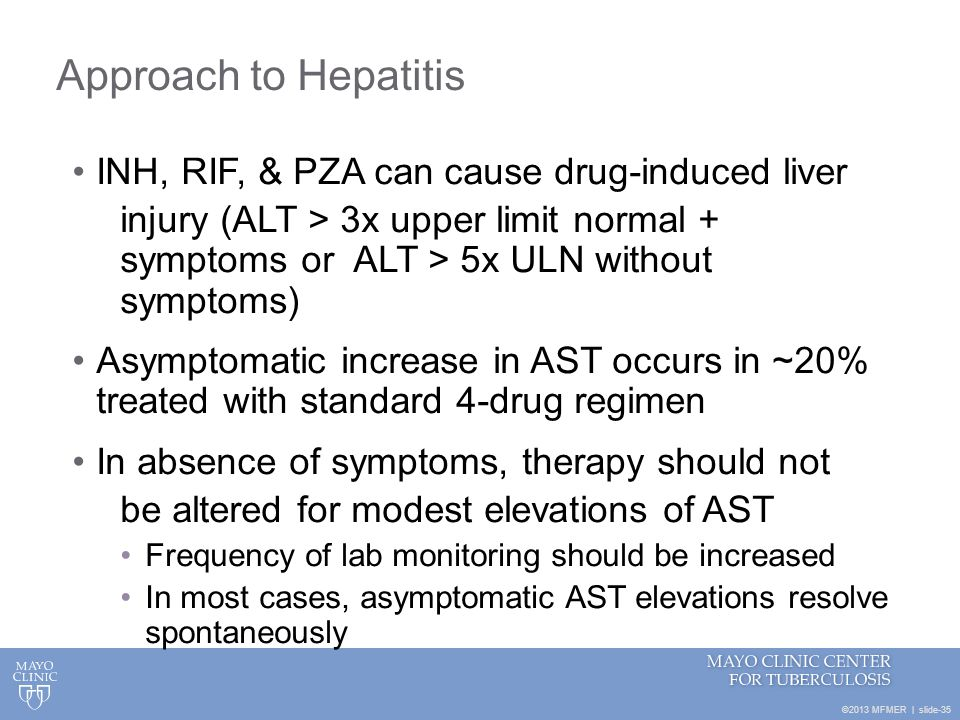 Approach to Hepatitis INH, RIF, & PZA can cause drug-induced liver