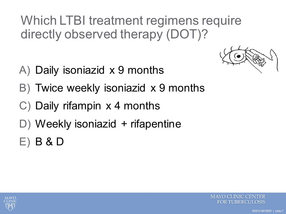 Which LTBI treatment regimens require directly observed therapy (DOT)