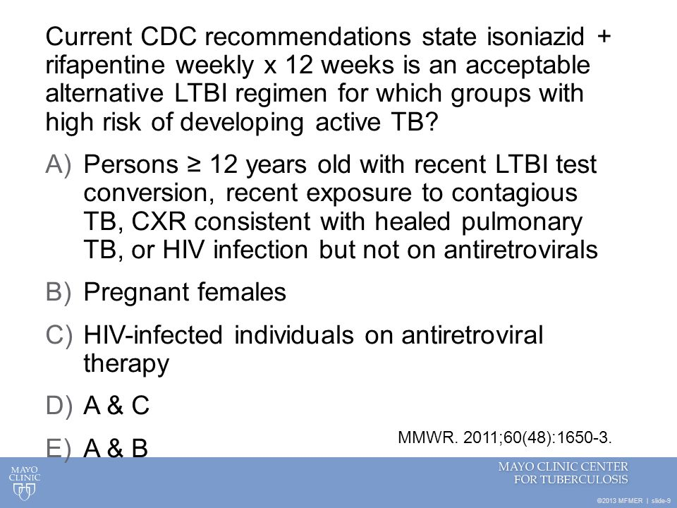 HIV-infected individuals on antiretroviral therapy A & C A & B