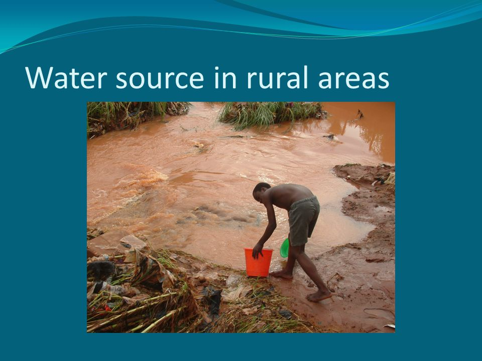 Water source in rural areas