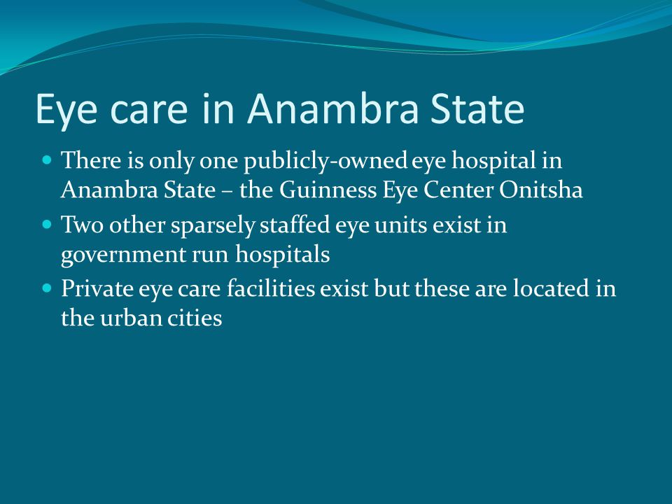 Eye care in Anambra State