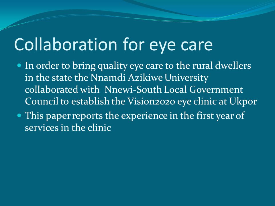 Collaboration for eye care
