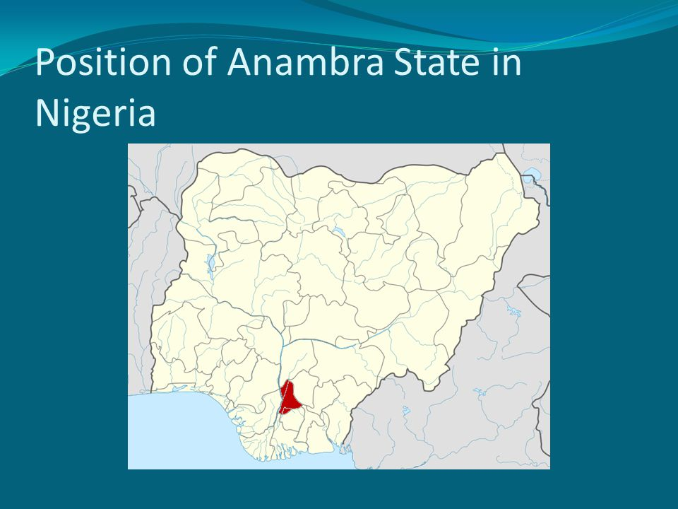 Position of Anambra State in Nigeria