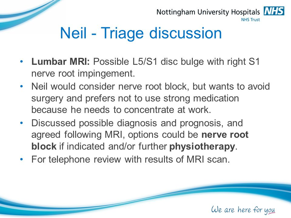 Neil - Triage discussion