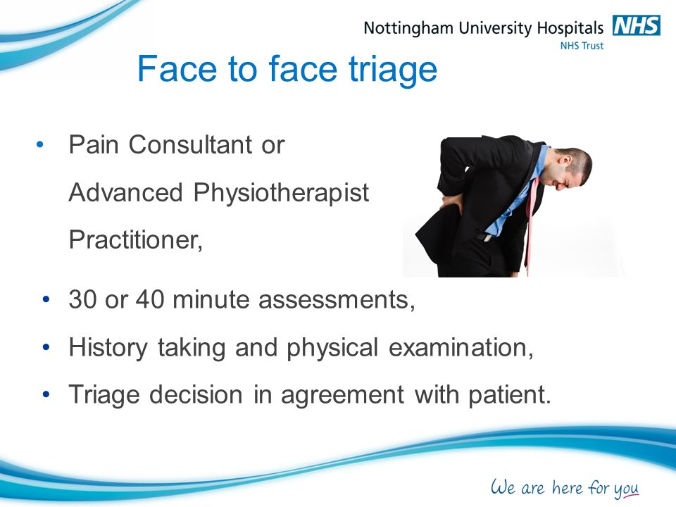 Pain Consultant or Advanced Physiotherapist Practitioner,