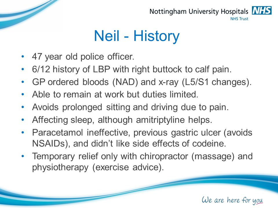 Neil - History 47 year old police officer.