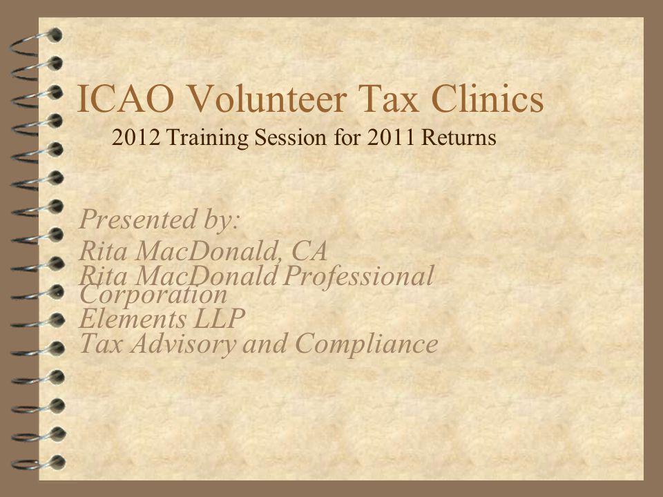 ICAO Volunteer Tax Clinics