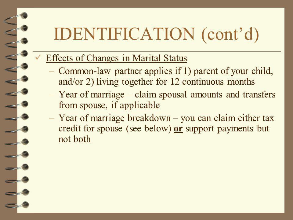 IDENTIFICATION (cont'd)