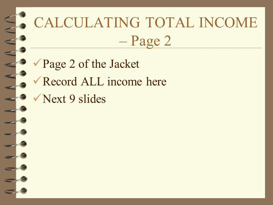 CALCULATING TOTAL INCOME – Page 2