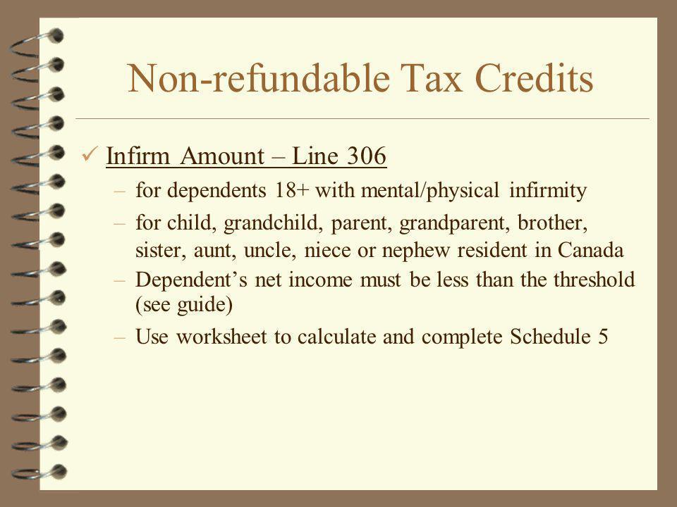 Non-refundable Tax Credits
