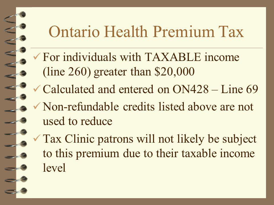 Ontario Health Premium Tax
