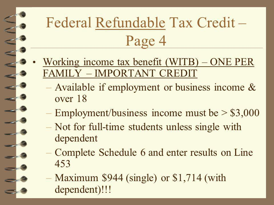 Federal Refundable Tax Credit – Page 4