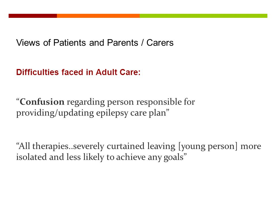 Views of Patients and Parents / Carers