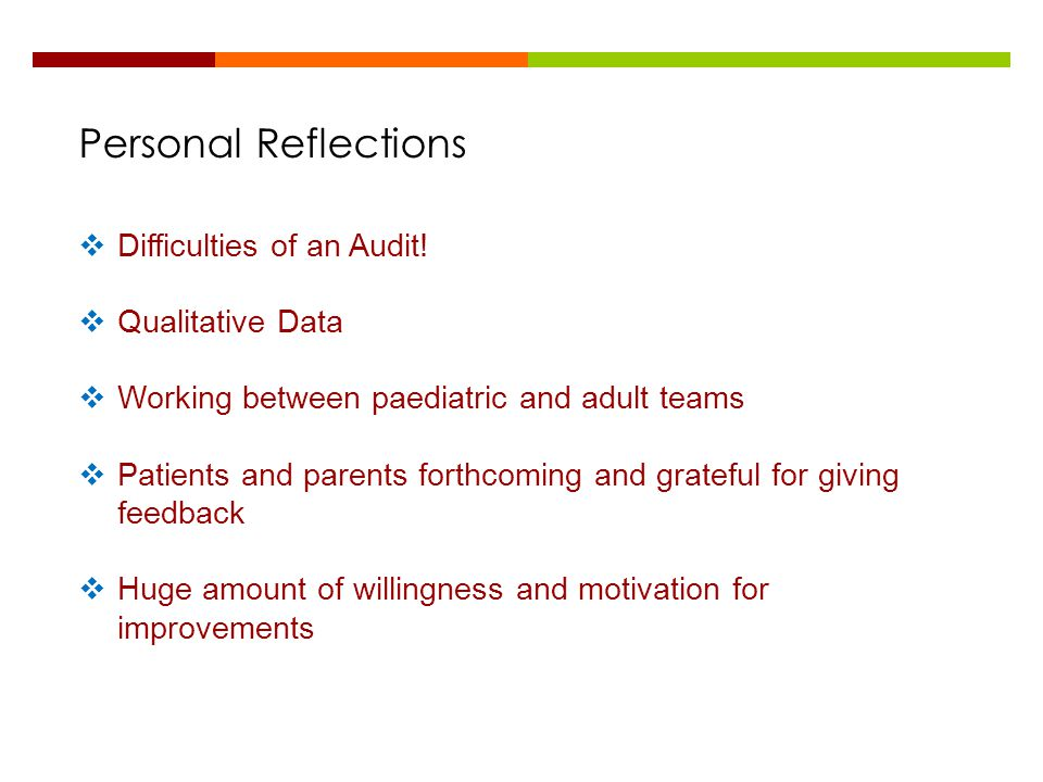 Personal Reflections Difficulties of an Audit! Qualitative Data