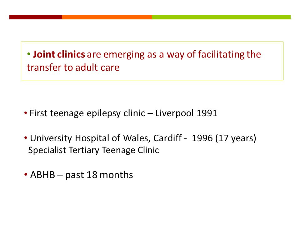 Joint clinics are emerging as a way of facilitating the transfer to adult care