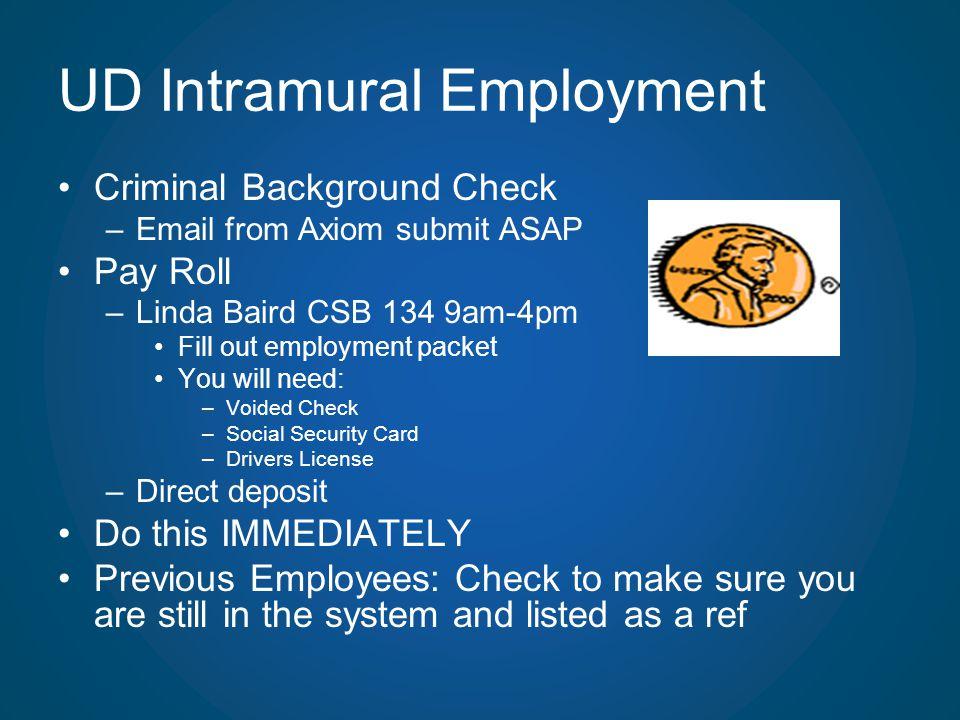 UD Intramural Employment