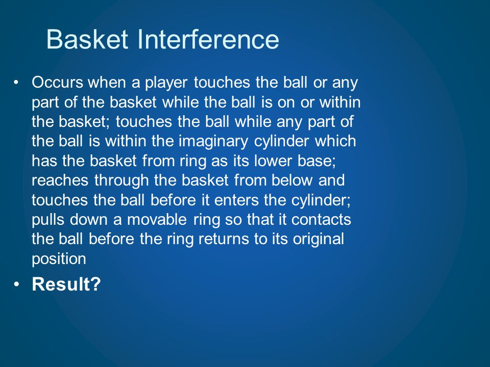 Basket Interference Result
