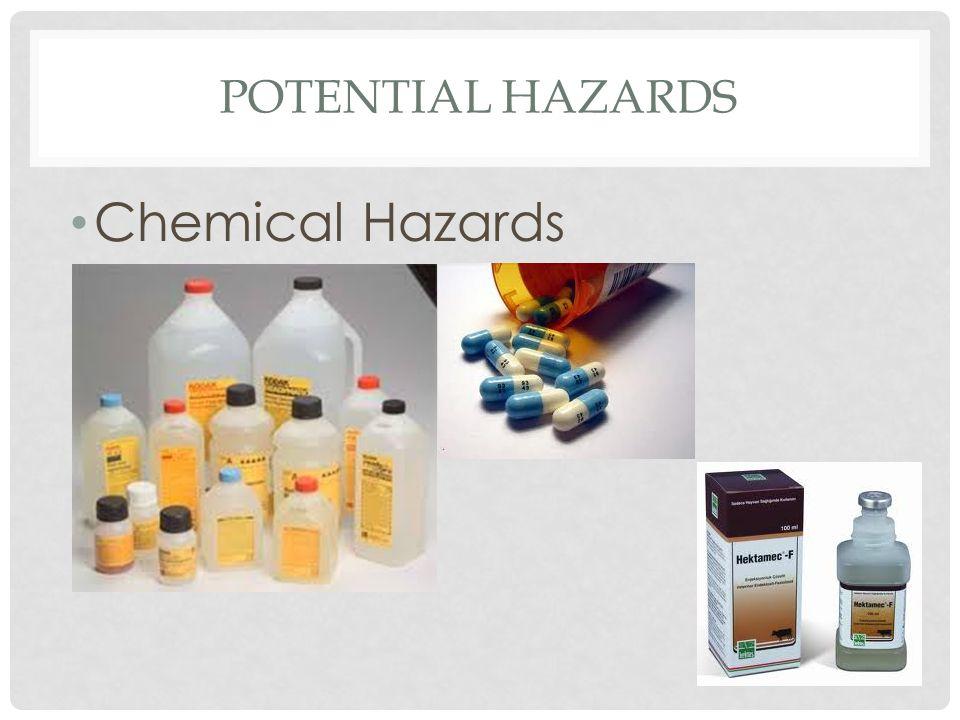 Potential hazards Chemical Hazards
