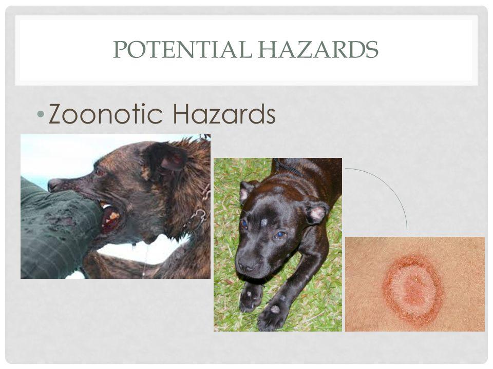 Potential hazards Zoonotic Hazards