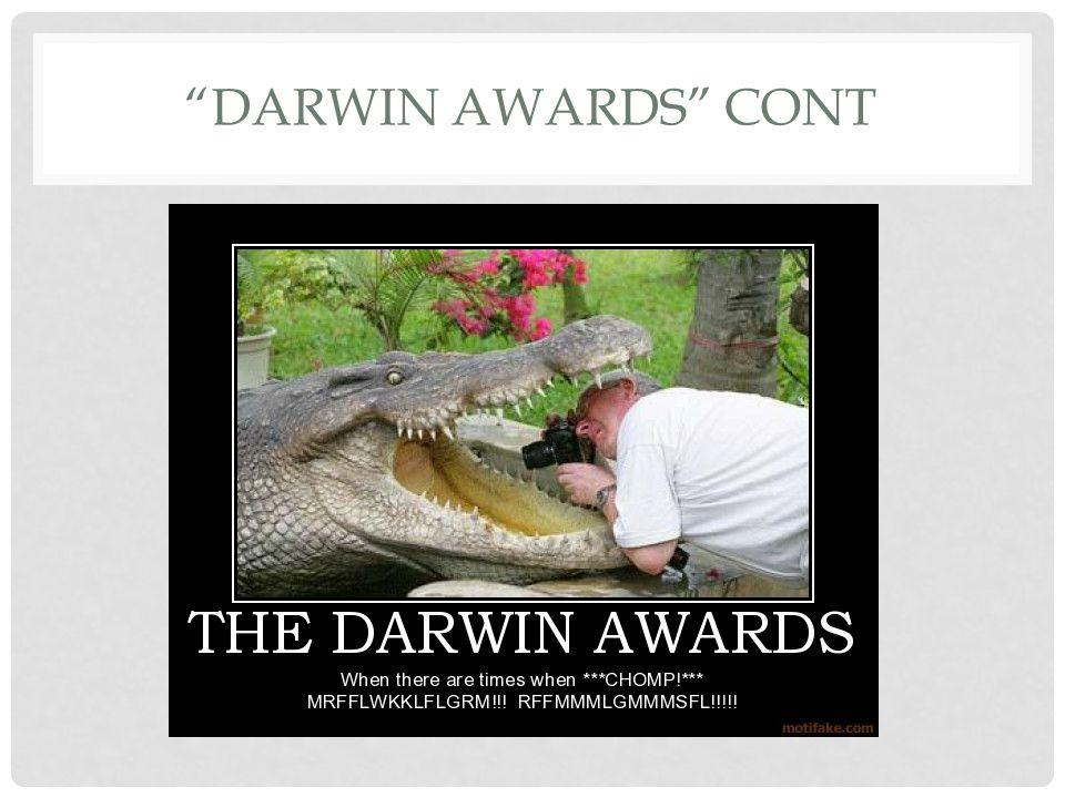 Darwin awards Cont