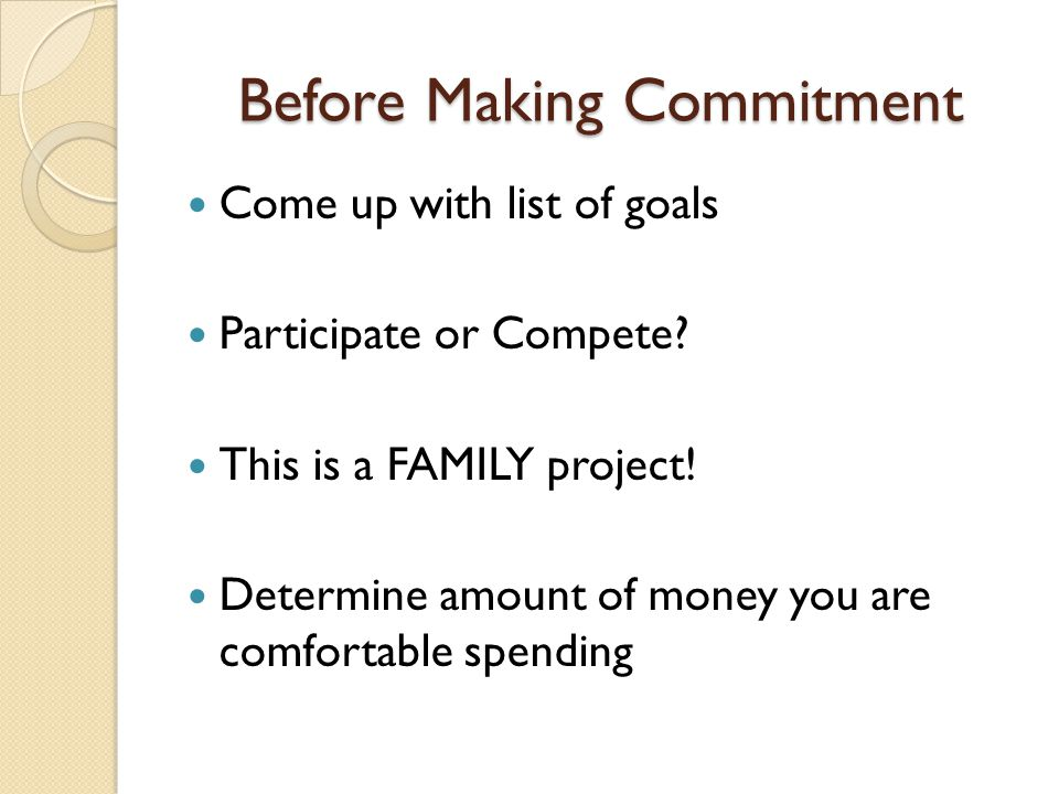 Before Making Commitment