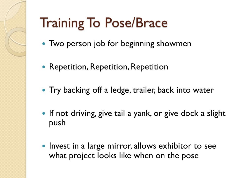 Training To Pose/Brace