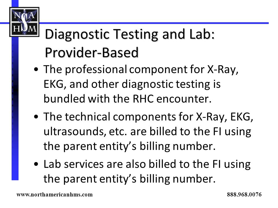 Diagnostic Testing and Lab: Provider-Based