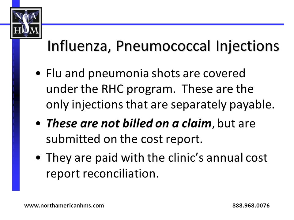 Influenza, Pneumococcal Injections