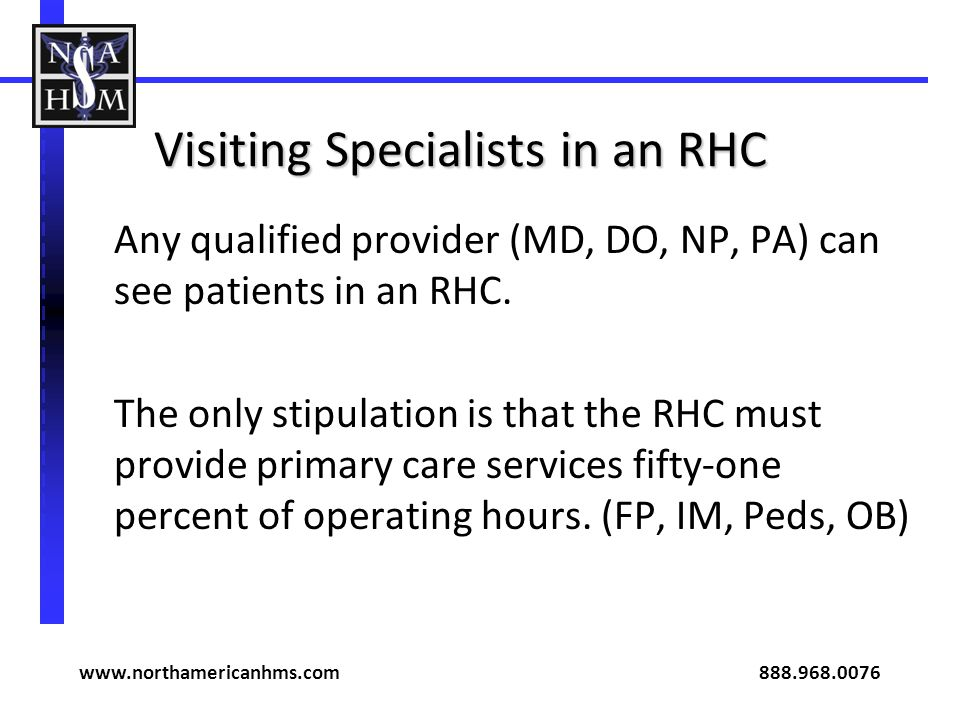 Visiting Specialists in an RHC