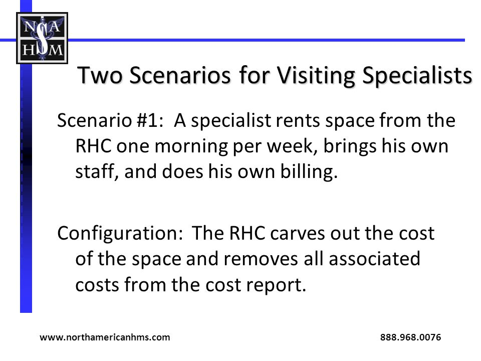 Two Scenarios for Visiting Specialists